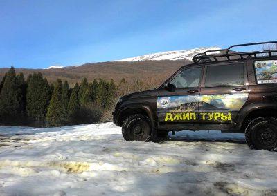 Зимой в горы на патриоте