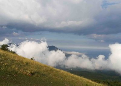 гора Чатыр-даг вид на Демерджи